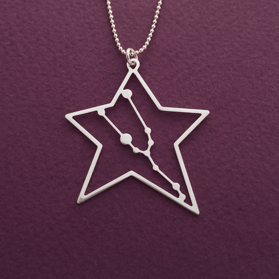 Taurus necklace in silver by Delftia Science Jewelry
