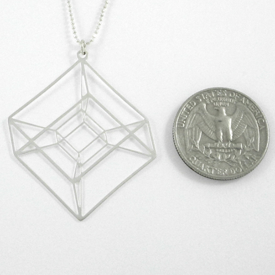 Tesseract necklace by Delftia Science Jewelry