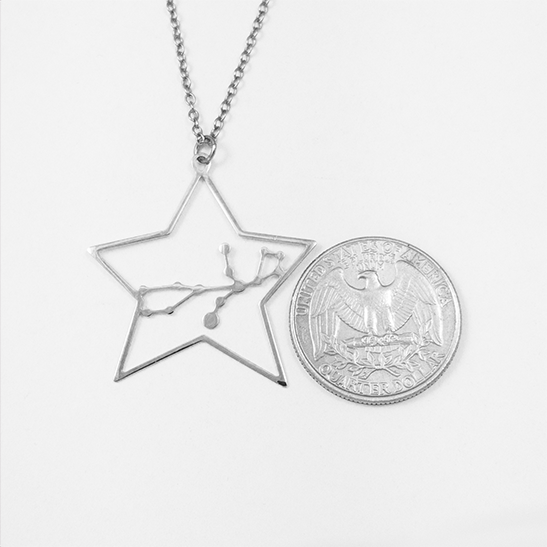 Virgo necklace in silver by Delftia Science Jewelry