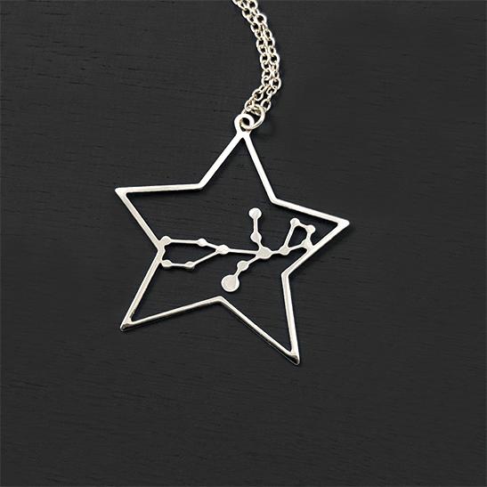 Virgo silver necklace by Delftia Science Jewelry
