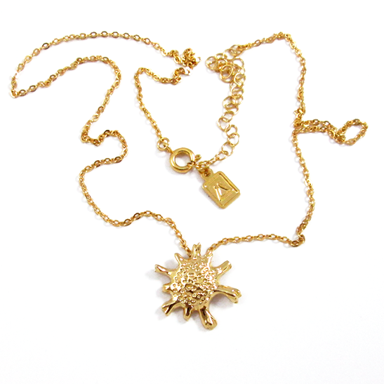calcarina gold necklace by Delftia science jewelry