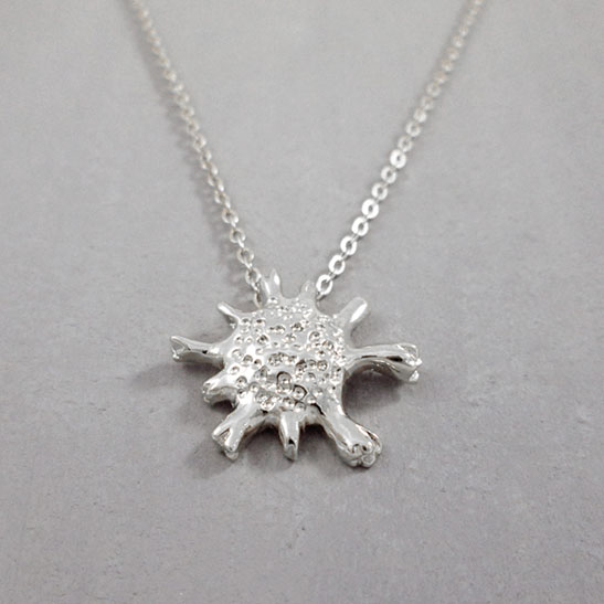 calcarina necklace in silver by Delftia science jewelry