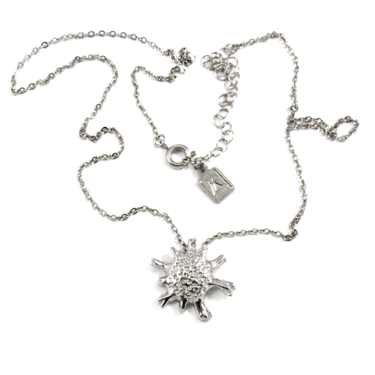 calcarina silver necklace by Delftia science jewelry