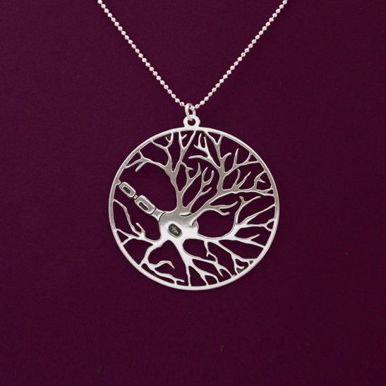 Neuron-silver-neckalce-by-Delftia-Science-Jewelry