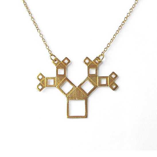 Pythagoras-tree-necklace-gold-by-Delftia-Science-Jewelry