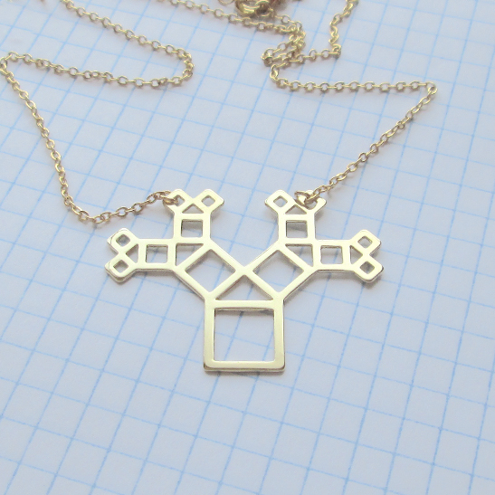 Pythagoras-necklace-in-gold-autline-by-Delftia-Science-Jewelry
