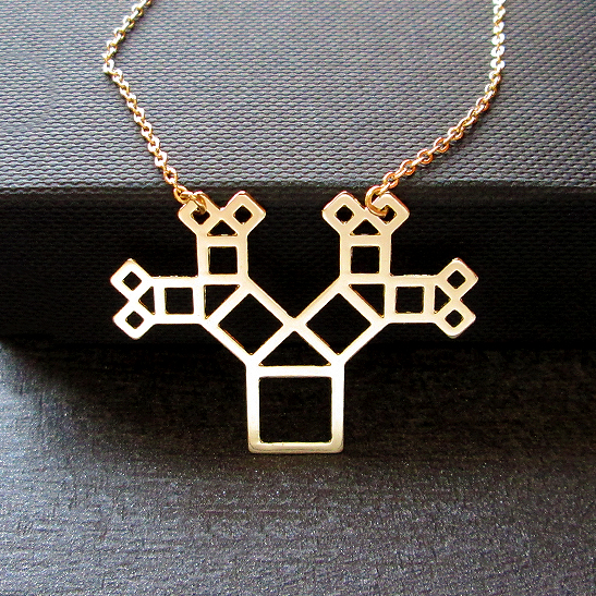 Pythagoras-tree-necklace-in-gold-autline-by-Delftia-Science-Jewelry