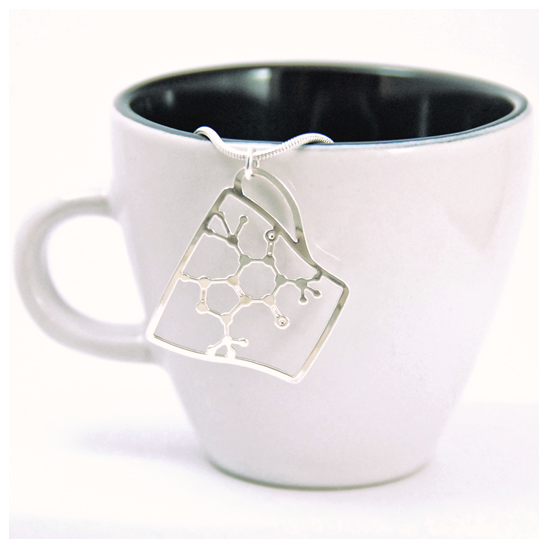 Caffeine-Molecule-Cup-necklace-silver-by-Delftia-science-jewelry