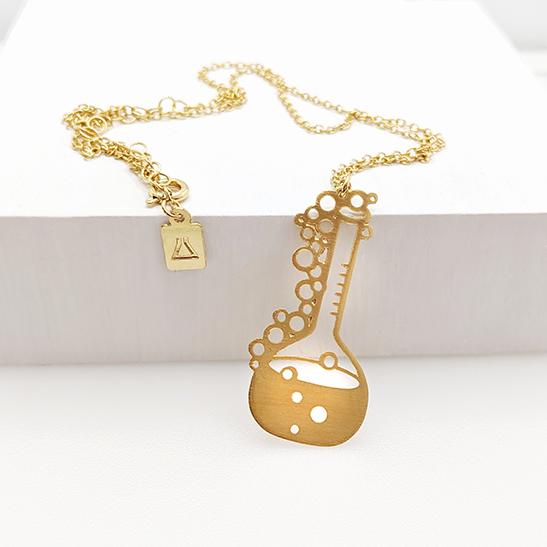 Volumetric flask necklace